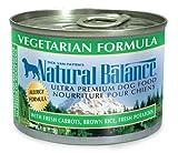 Natural Balance Vegetarian Formula Dog Food (Pack of 12 6-Ounce Cans), My Pet Supplies