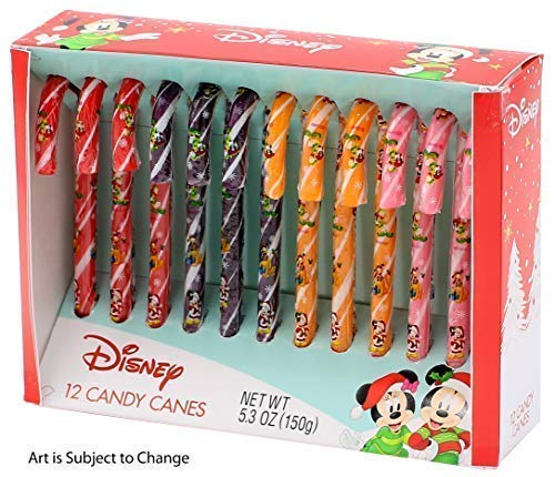 Disney Mickey Mouse Magic Candy Canes, 5.3 oz, Pack of 12