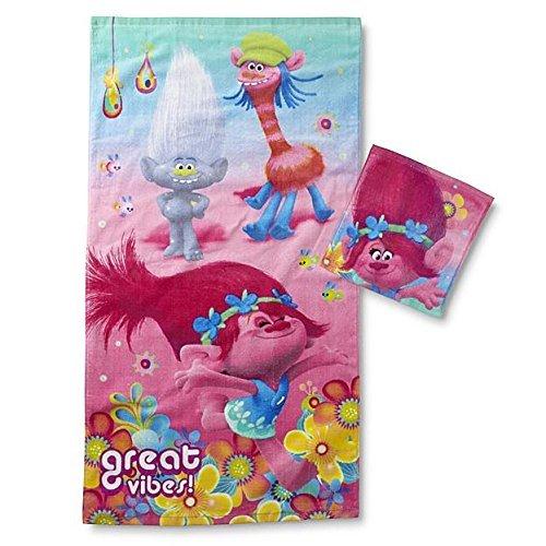 Dreamworks Trolls Kid's Bath Towel & Washcloth by Trolls