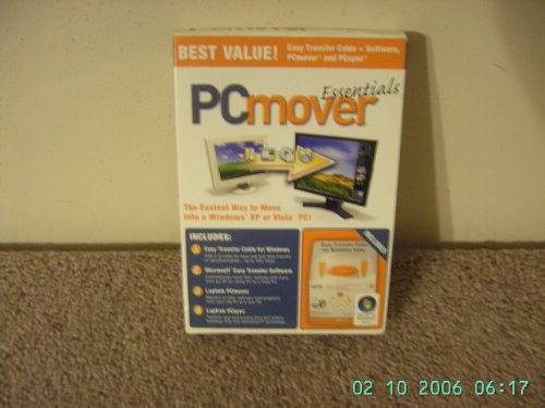 Software : PC Mover PCmover' Essentials