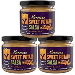 You are about to try something completely delicious and wildly different. Our Moroccan Sweet Potato Salsa is made of flame-roasted sweet potato, with our fabulous curry blend, little French lentils & tender kale. Yes, a salsa that isn't made of t...