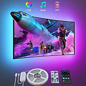 Govee TV LED Backlight, 9.8FT LED Lights for TV with App and Remote Control, Music Sync, DIY and Scene Modes, RGB Color Changing TV Backlight for 46-60 inch TVs, Computer, Bedroom, USB Powered Seasonal Décor