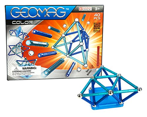Geomag 40-Piece Color Construction Set with Assorted Panels ...