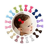 "Shemay 10 Pairs 2"" Tiny Boutique Grosgrain Ribbon Hair Bow Alligator Clips Barrettes for Baby Girls Toddlers Kids"