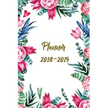 Planner 2018-2019: Two Year Planner| 24 Month ( Daily Weekly And Monthly Calendar ) For Agenda Schedule Organizer   Logbook and Journal Notebook (24 Month Calendar Planners) | Natural Floral water Color Cover
