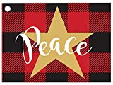 Buffalo Plaid Christmas Gift Cards (6 Pack) 3-3/4x2-3/4