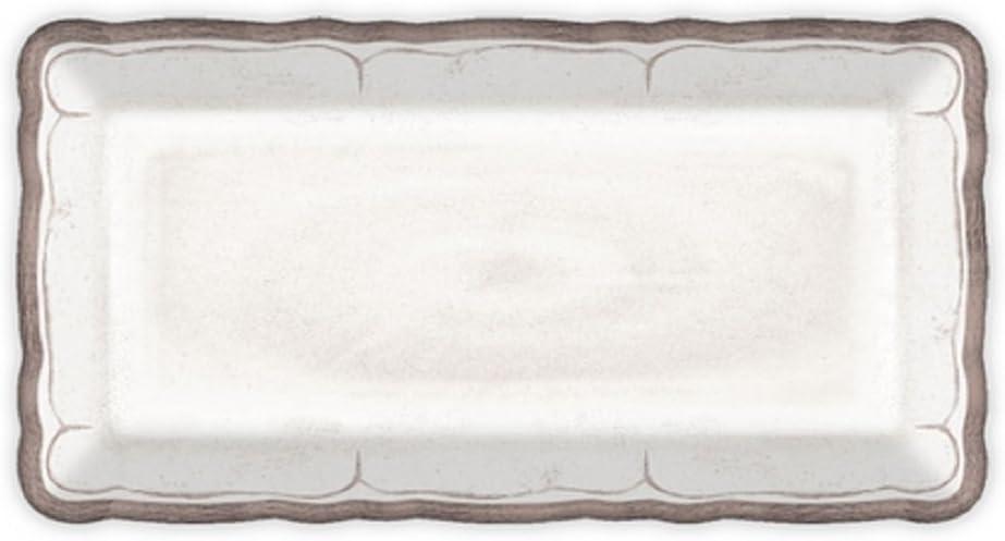 Le Cadeaux 297RUAW Rustica - Bandeja para galletas, color blanco, melamina