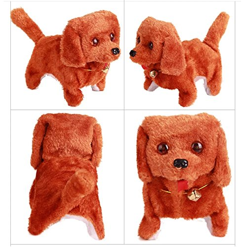 Baby Plush Toy Dog Doll Cute Electric Pets Toy Stuffed Plush Dog Realistic DancingWalking Actions with Voice Lovely Baby Kids Gift