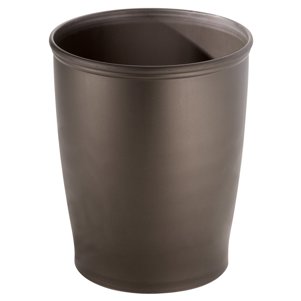 Amazon.com: InterDesign Kent - Round Trash Can for Bathroom ...