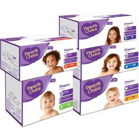 Amazon.com: Parents Choice - Diapers Value Pack, size 3 (144 Diapers): Health & Personal Care
