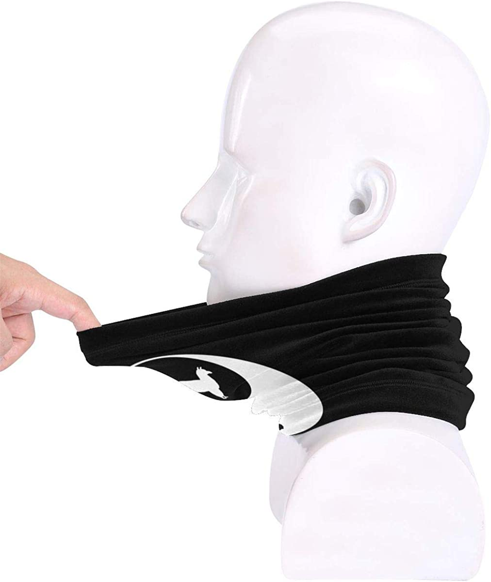 Yin Yang Llama Men /& Women Face Mask Windproof Neck Gaiter Cold Weather Headwear For Fishing Motorcycling