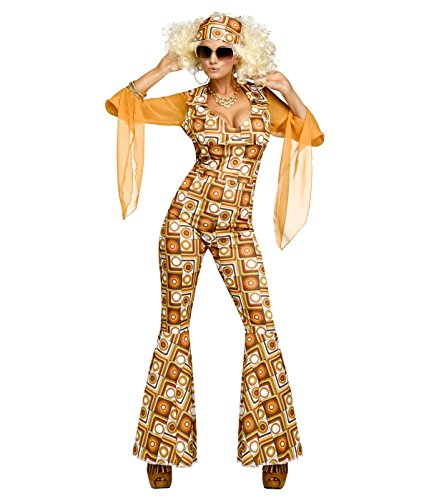 Fun World Women's Disco Diva Costume, Multi, Small/Medium