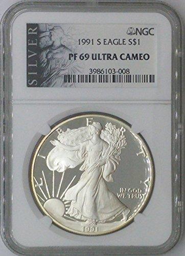 1991 S American Eagle $1 PF69 NGC PF