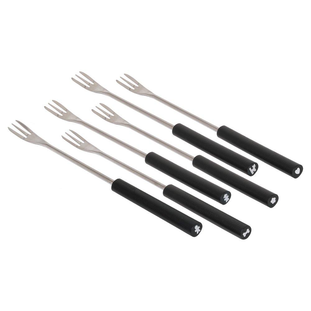 Alessi SG58 B Mami 6 Fondue Forks Set 6 Piece, Silver