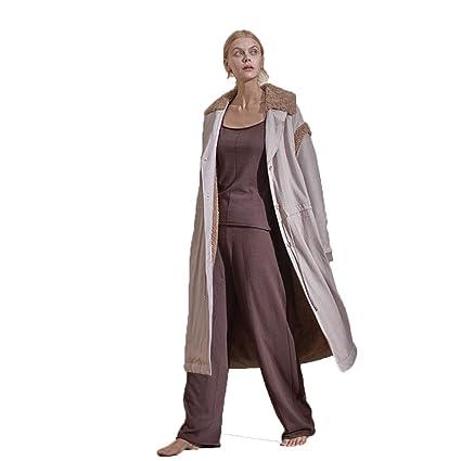 Pijamas Damas Batas De Baño Batas De Baño Lujo Algodón Grueso Cálido Inicio Casual Lapel Cardigan