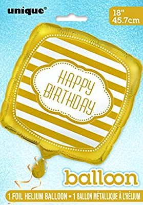 "12"" Gold Confetti Balloons"