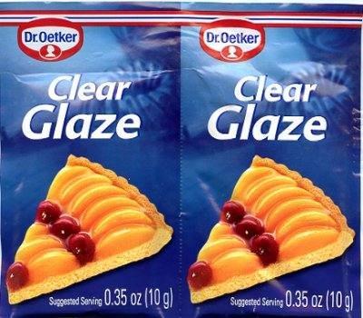 Vanilla Cake Glaze - Dr. Oetker Clear Glaze, 2 Packets each .35oz