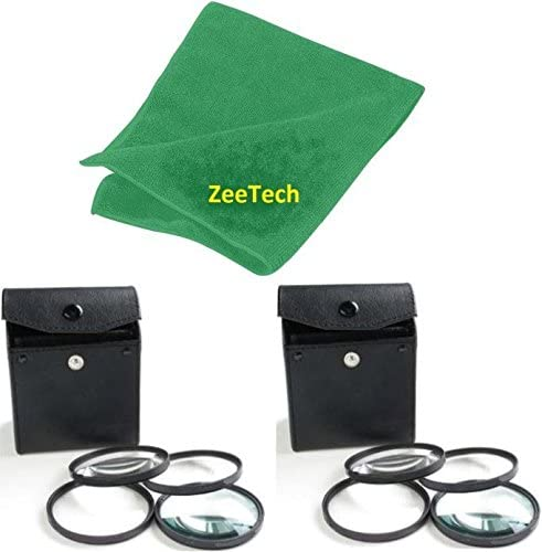 ZeeTech Microfiber Cleaning Cloth for Nikon Digital SLR Camera Lenses That Have 52mm Thread +1, +2, +4, +10 2pcs 52mm 4pc Close-Up Macro Filters