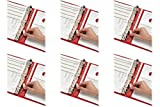 Cardinal Binder Insert Strips, Self-Adhesive Strips, 25 per Pack, Clear (CRD21110), 6 Packs Size: 6 Pack, Model:, Office Accessories & Supply Shop