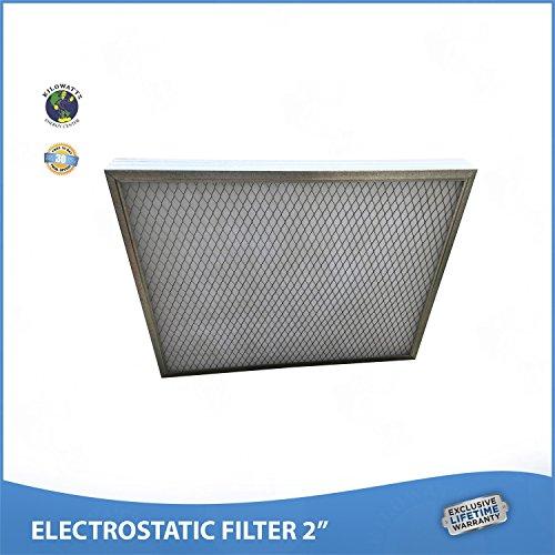 12x 16x 2Lifetimeエアフィルタ–Electrostatic Permanent、洗濯可–For炉またはAC–Never Buy別フィルタ