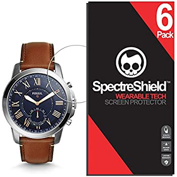 Spectre Shield (6 Pack) Screen Protector for Fossil Hybrid Smartwatch Q Grant Accessory Fossil Hybrid Smartwatch Q Grant Case Friendly Full Coverage ...