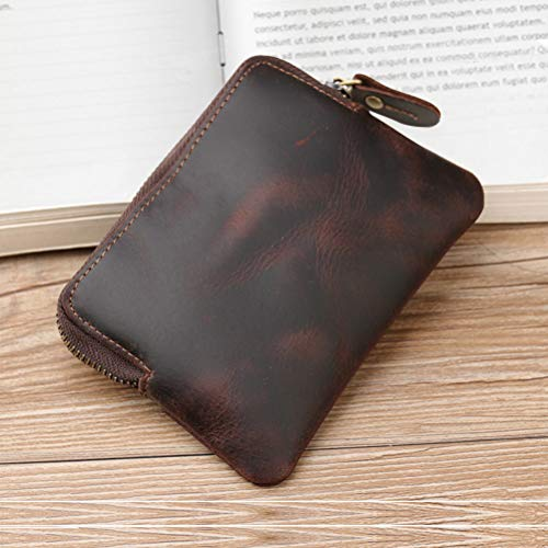 7266a2aa6fbe Wallet for Men Fmeida Leather Coin Purse Change Card Holder- Birthday Gift  (Brown)