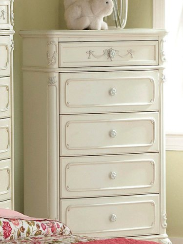 Cinderella Chest by Home Elegance in Off-White