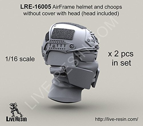 Live Resin 1:16 Crye Airframe Helmet & Choops Without Cover With Head #LRE16005
