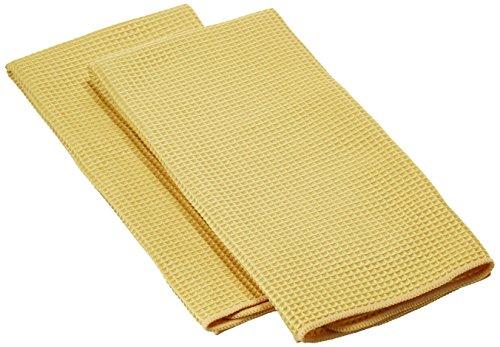 MUkitchen Microfiber Waffle Dishtowel, 17 by 25-1/2 Inches, Set of 2, - Add Mu
