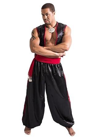 Men's Belly Dance Harem Pants, Vest and Hip Scarf Costume Set Magnificent  Man