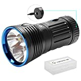OLIGHT X7R Marauder USB TYPE-C rechargeable 12,000 Lumen LED flashlight/searchlight, 4 X 18650 rechargeable batteries with GrapheneFast battery case