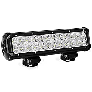 LED Light Bar Nilight 12 Inch 72W LED Work Light Spot Flood Combo LED Lights Led Bar Driving Fog Lights Jeep Off Road Lights Boat Lighting ,2 Years Warranty