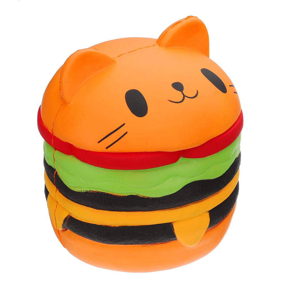 Giant Squishy Toy Soft Jumbo Slow Rising Squishies Collection Gift Decor Stress Reliever (Cat Burger) by Ganjiang (Image #3)