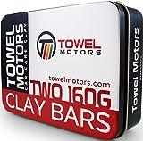 Towel Motors Car Clay Bar, 2-Pack Detailing Clay (320 Grams Total)