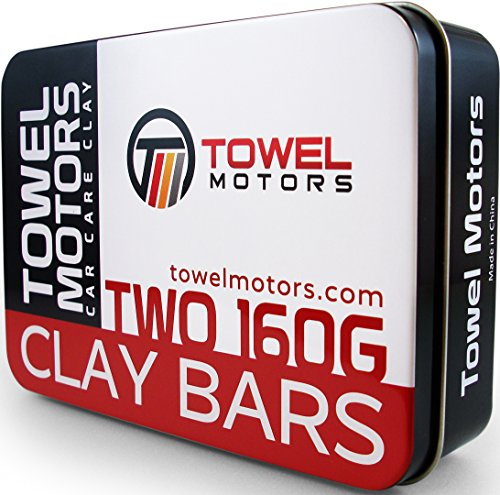 Towel Motors Car Clay Bar, 2-Pack Detailing Clay (320 Grams Total)