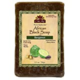 OKAY African Black Soap Bergamot, Bergamot, 5.5 Ounce