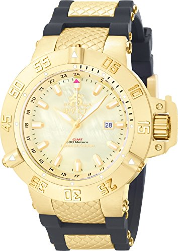 Invicta Men's 0738 Subaqua Noma III Collection GMT Black Polyurethane Watch by Invicta