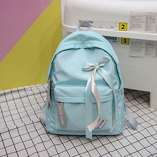 MinegRong Schüler Schultasche Rucksack Campus Mädchen kleine Frische Hellblau v6qffVps