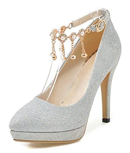 9219c4125ef Escarpin À Talon Femme Escarpins Aisun Avec Strass - Plateforme Talon Haut  Bout Pointu - Chaussures