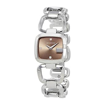 5615f4251a299 Amazon.com: Gucci Womens 125 Series YA125503 Quartz Silver Band ...