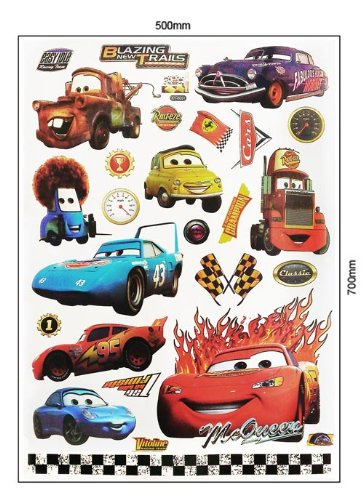 LARGE DISNEY PIXAR CARS / LIGHTNING MCQUEEN / MATER CHILDRENu0027S ROOM DECOR WALL  STICKER 70 X 50cm: Amazon.co.uk: Kitchen U0026 Home Part 98