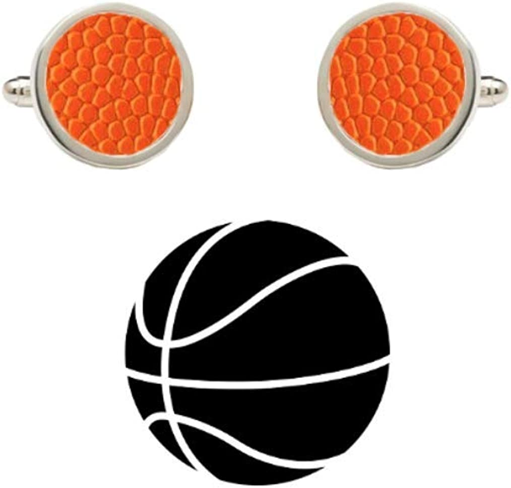 New York Official On Court Leather Basketball Cufflinks with Gift Box