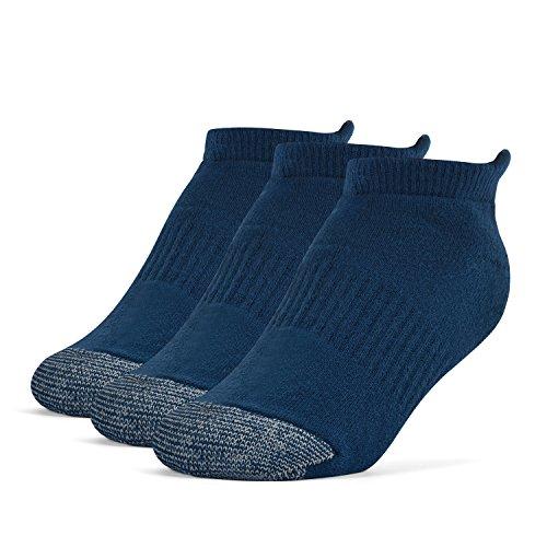 Galiva Girls Cotton Extra Soft No Show Cushion Running Socks - 3 Pairs