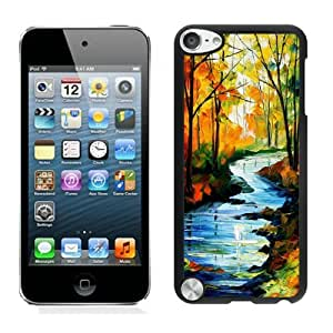 Art Design Ipod 5 Cases for Girls Black Ipod 5th Generations Protective Cover for Boys Oil Paintings Landscape Design