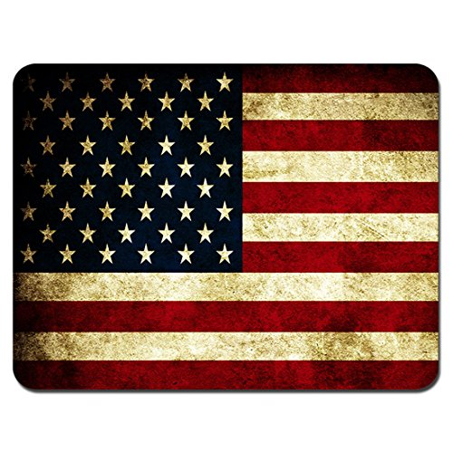 Meffort Inc Standard 9.5 x 7.9 Inch Mouse Pad - American Flag