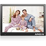 Digital Picture Frame, APESIN 14.1 Inch HD Screen with Motion Sensor(Black)