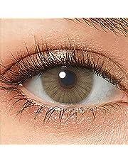 Gekleurde contactlenzen Zeer ondoorzichtige natuurlijke siliconen comfortlenzen - Damesmeisje make-up Cosplay cadeau voor Halloween, Kerstmis, feesten, dagelijkse make-up, 1 paar (2 stuks)