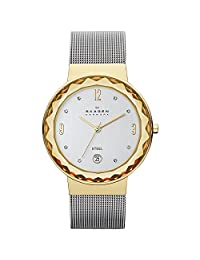 Skagen Women's Quartz Watch with Silver Dial Analogue Display and Silver Stainless Steel Strap SKW2002