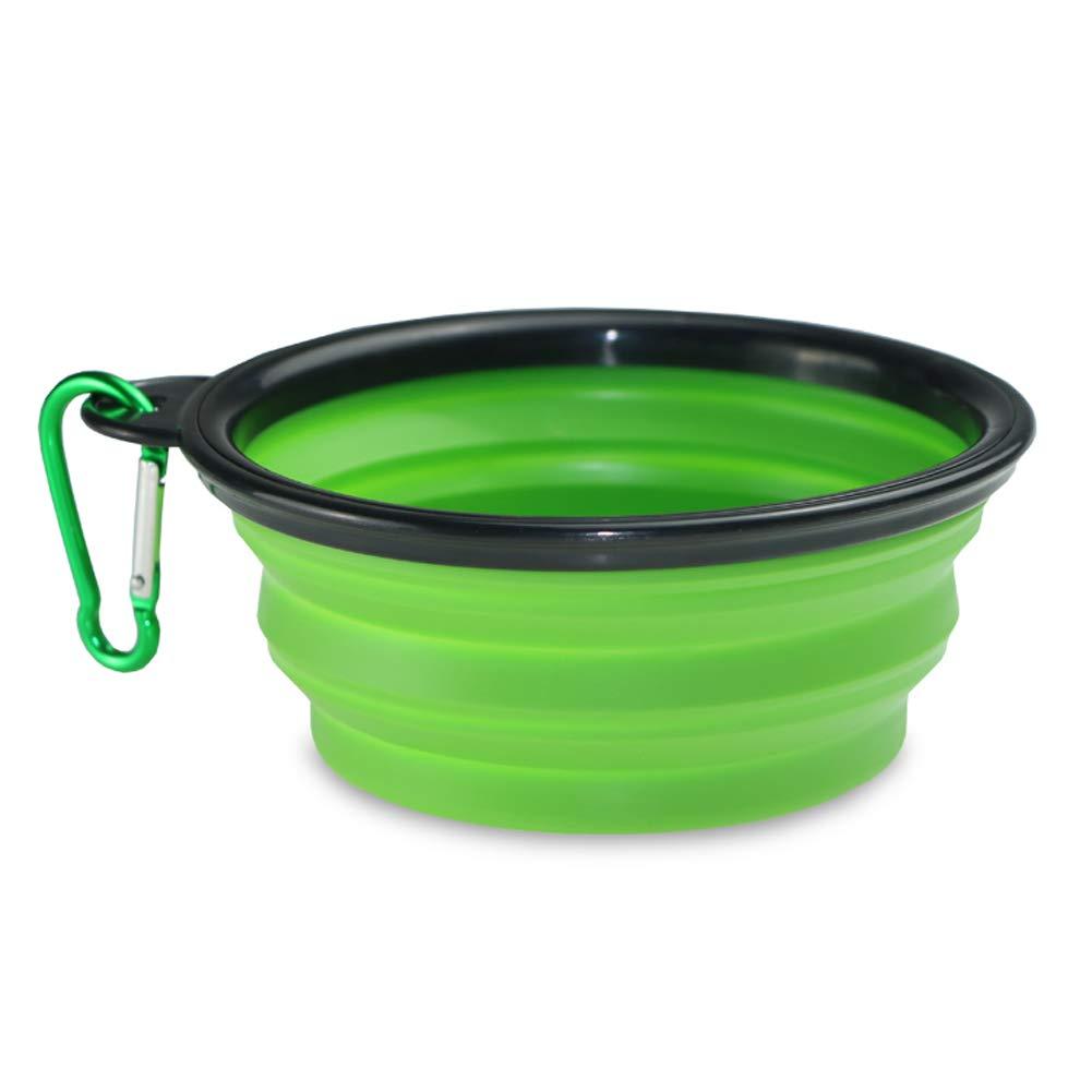 PUAO Pop-up et Bol Chien pour Animal Domestique Bol, Portable Pliable de Voyage en Silicone Camping Caisse Plat Bol–sans BPA–Passent au Lave-Vaisselle
