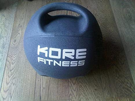 Kore Fitness 9 kg comercial de goma agarre doble balón medicinal ...
